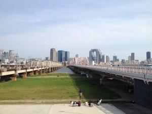 大阪 淀川 河川敷 写真